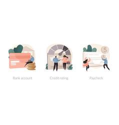 Financial services abstract concept vector