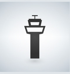 Flight control tower icon for web mobile and vector