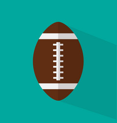 Football icon wit long shadow flat style vector