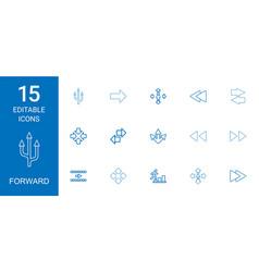 Forward icons vector