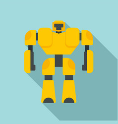 game robot transformer icon flat style vector image