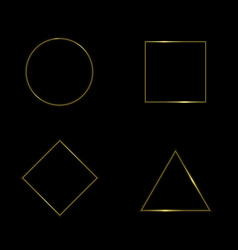 golden geometric shapes vector image