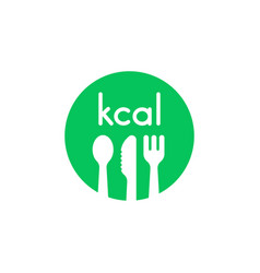 Green kcal icon like healthy diet vector