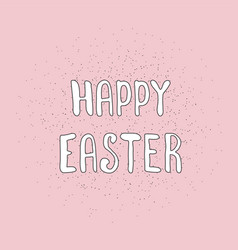 happy easter calligraphy hand drawn elements vector image