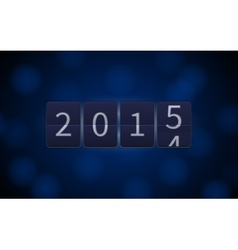 Happy New Year 2015 digital clock light effects vector image
