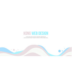 header website abstract wave style collection vector image