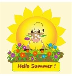 Hello summer vector