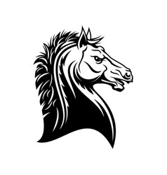 heraldic imperial horse head isolated emblem vector image