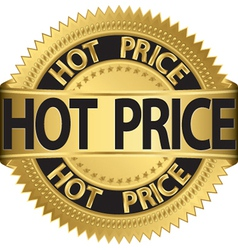 hot price Gold label vector image