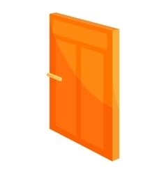 House door icon cartoon style vector