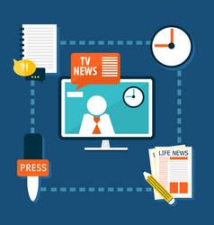 journalistic flat infographic design concept vector image