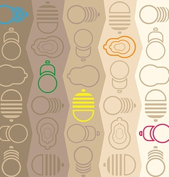 Lamps pattern vector