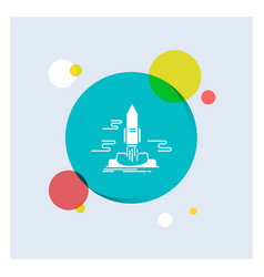 launch publish app shuttle space white glyph icon vector image