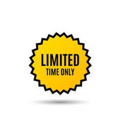 limited time symbol special offer sign vector image