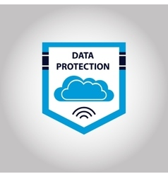 logo cloud data protection information vector image