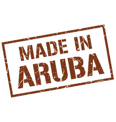 made in aruba stamp vector image