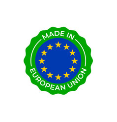 made in european union label europe quality vector image