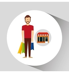 man bag gift store icon vector image