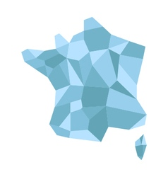 map france low poly vector image