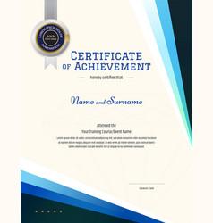 Modern certificate template with elegant border vector