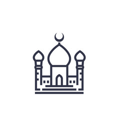 mosque icon on white vector image