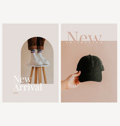 New arrival shopping template aesthetic fashion vector