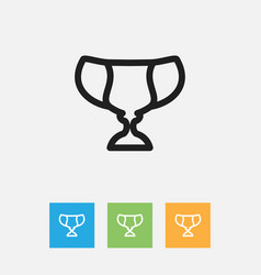 of science symbol on trophy vector image