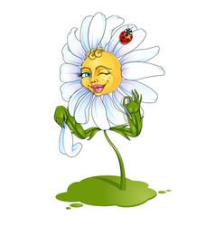 optimistic daisy girl vector image