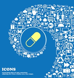 Pill icon nice set beautiful icons twisted vector