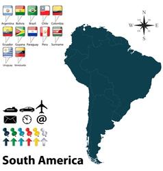 Political map south america vector