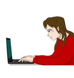 Programmer Working Woman vector image
