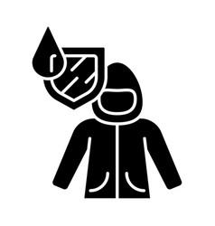 raincoat glyph icon vector image