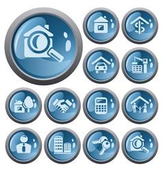 Real estate buttons vector image