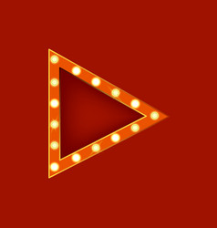 realistic detailed 3d glowing sign triangle vector image