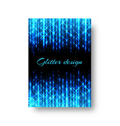rectangular pattern with neon light vector image