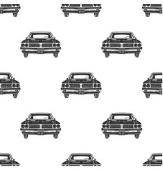 Retro auto seamless vintage car pattern vector
