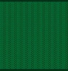 rib knit green pattern vector image