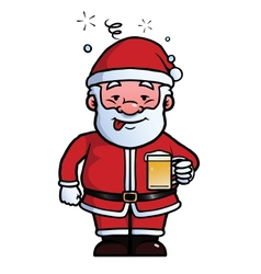 Santa Claus being drunk vector image