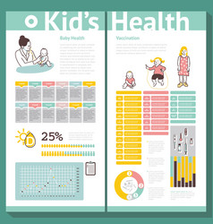 Schedule table care of children vector