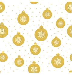 seamless christmas pattern with christmas balls vector image