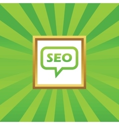 SEO message picture icon vector image