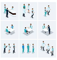 Set isometric reception at doctor vector
