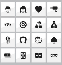 set of 16 editable business icons includes vector image