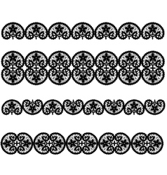 Set of black lace vector image