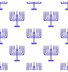 Silhouettes of menorah seamless pattern vector