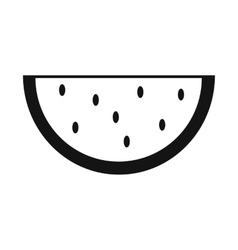 Slice of watermelon simple icon vector image