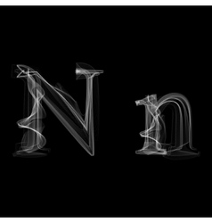 Smoke font Letter N vector image