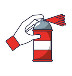 spray canister in the hand creative vector image