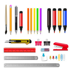 Stationery realistic set vector