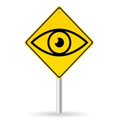 traffic sign with eye vector image